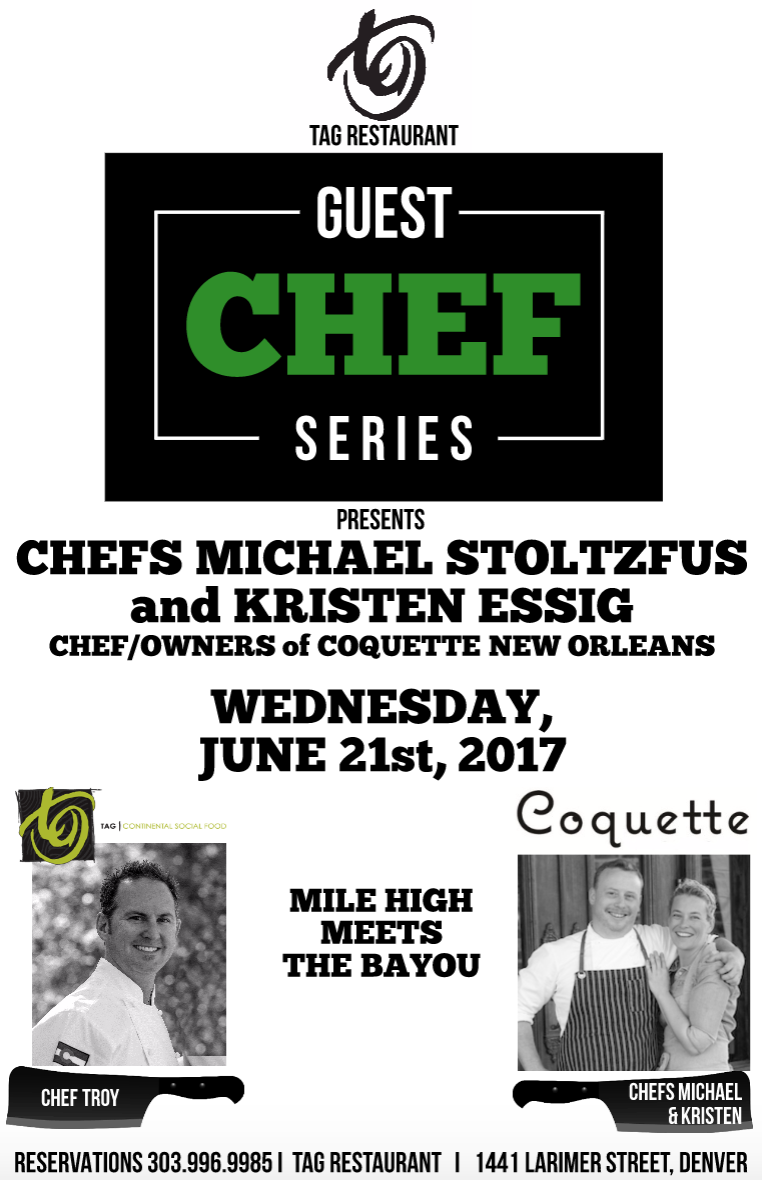 Save the Date – June 21st :: Guest Chef Series with Coquette!