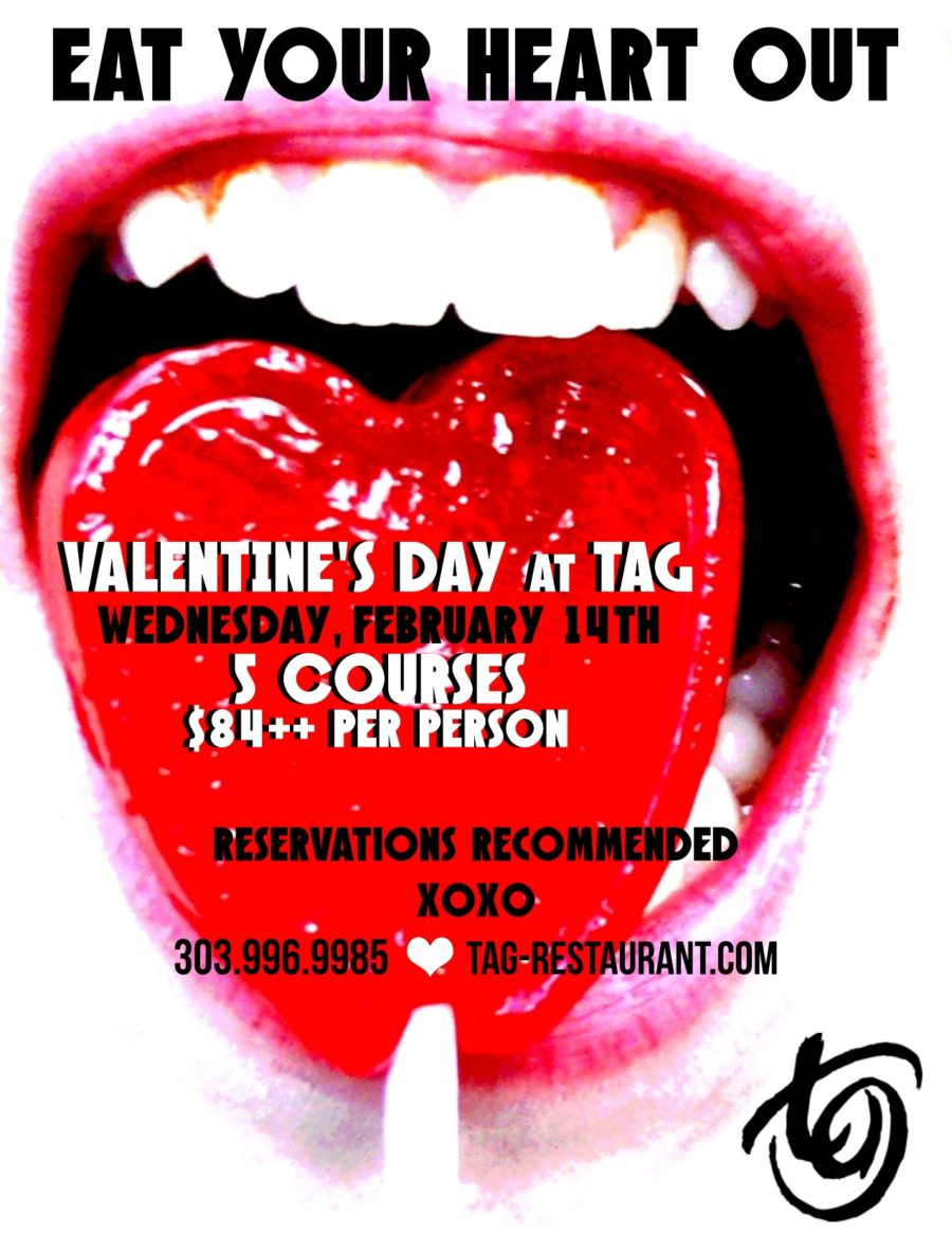 FULL MENU HERE / Eat Your Heart Out / Valentine's Day at TAG