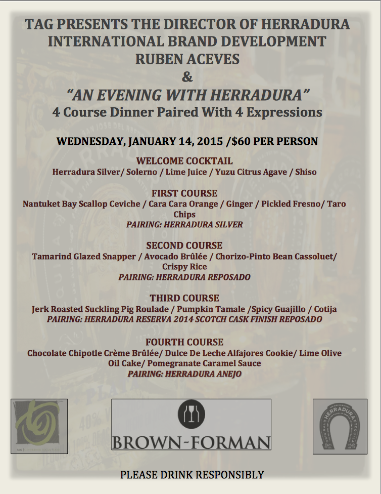 TAG Presents An Evening with Herradura