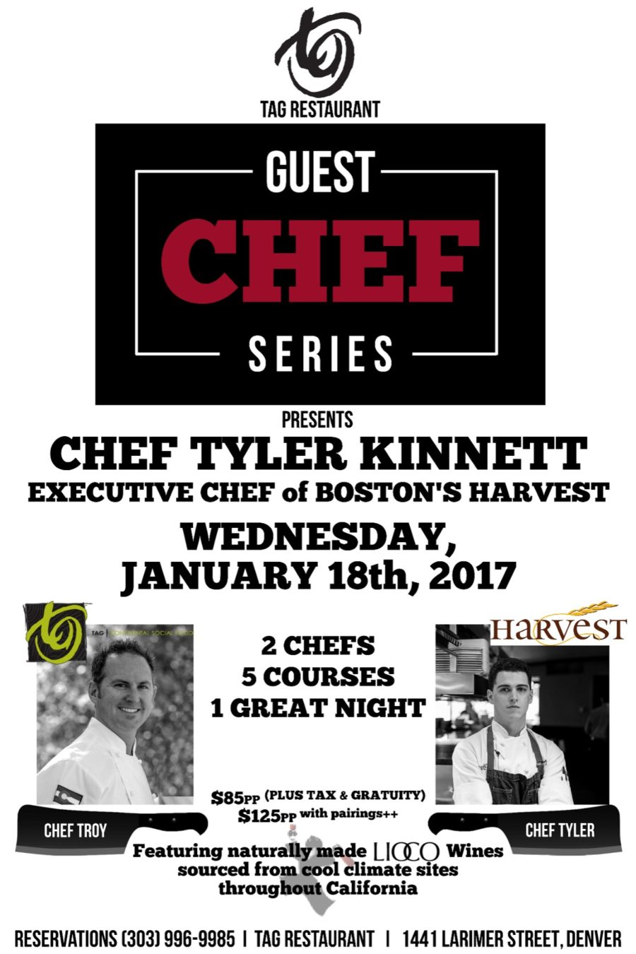 GUEST CHEF SERIES with Chef Tyler Kinnett