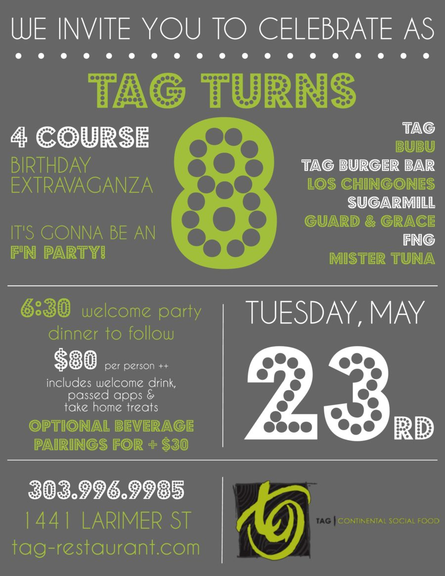 TAG Celebrates 8 Years!